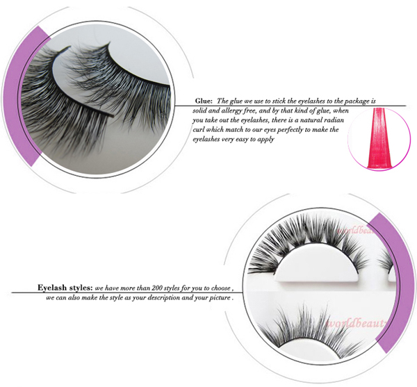 Top Quality Customed Packaging 200 New Styles 3D Mink False Eyelash