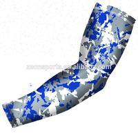 custom arm sleeves fashion design Camo pattern sweat-absorbent quick-dry lycra arm sleeves