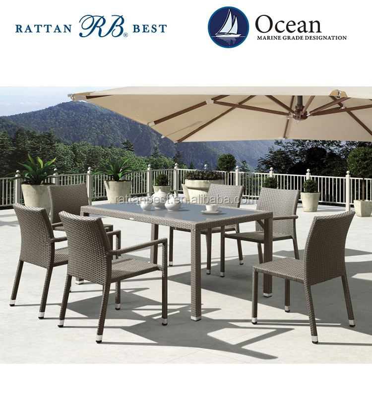 rattan furniture table and chair