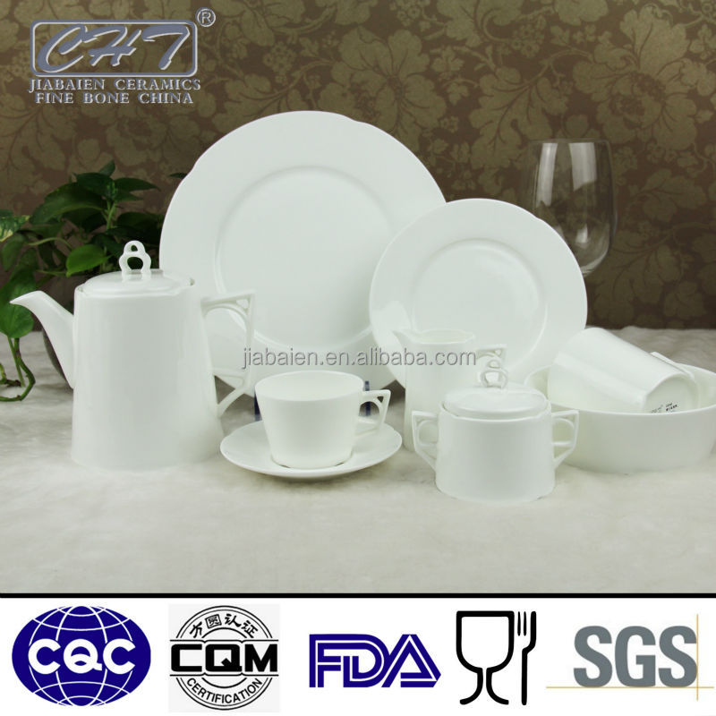 A030 Hot sale royal fine bone china new design modern dinner set