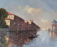 High Quality Wall Art Decoration Handmade Venice Landscape Oil Painting Canvas