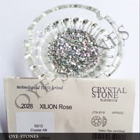 flat back glass beads,crystal AB for nails