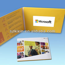 factory supply high quality 5'' customized digital video greeting card and video advertising book