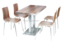 Imported wood finish cafe coffee shop restaurant furniture (FOH-BC45)
