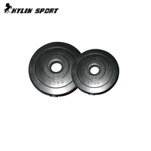 Gym Bumper Plates Plastic Weight Plate With Cement Filled