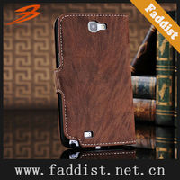 leather flip case for Samsung Galaxy Note2 N7100 wallet case unique grain