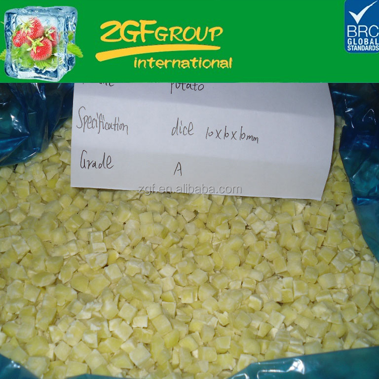 IQF Frozen fresh indian potato exporters in good quality in bulk