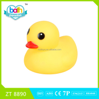 2016 New !PVC Funny big rubber duck baby bath learning toy ZT8890