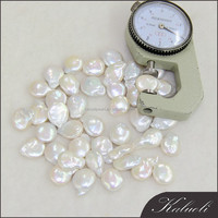Hot selling 12-13 mm AA white coin real loose pearl wholesale making jewelry