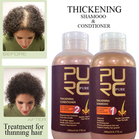 Private label thickening shampoo and conditioner stop hair loss naturally