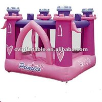 inflatable dreamlike princess bouncer castle mini jumping house for kids