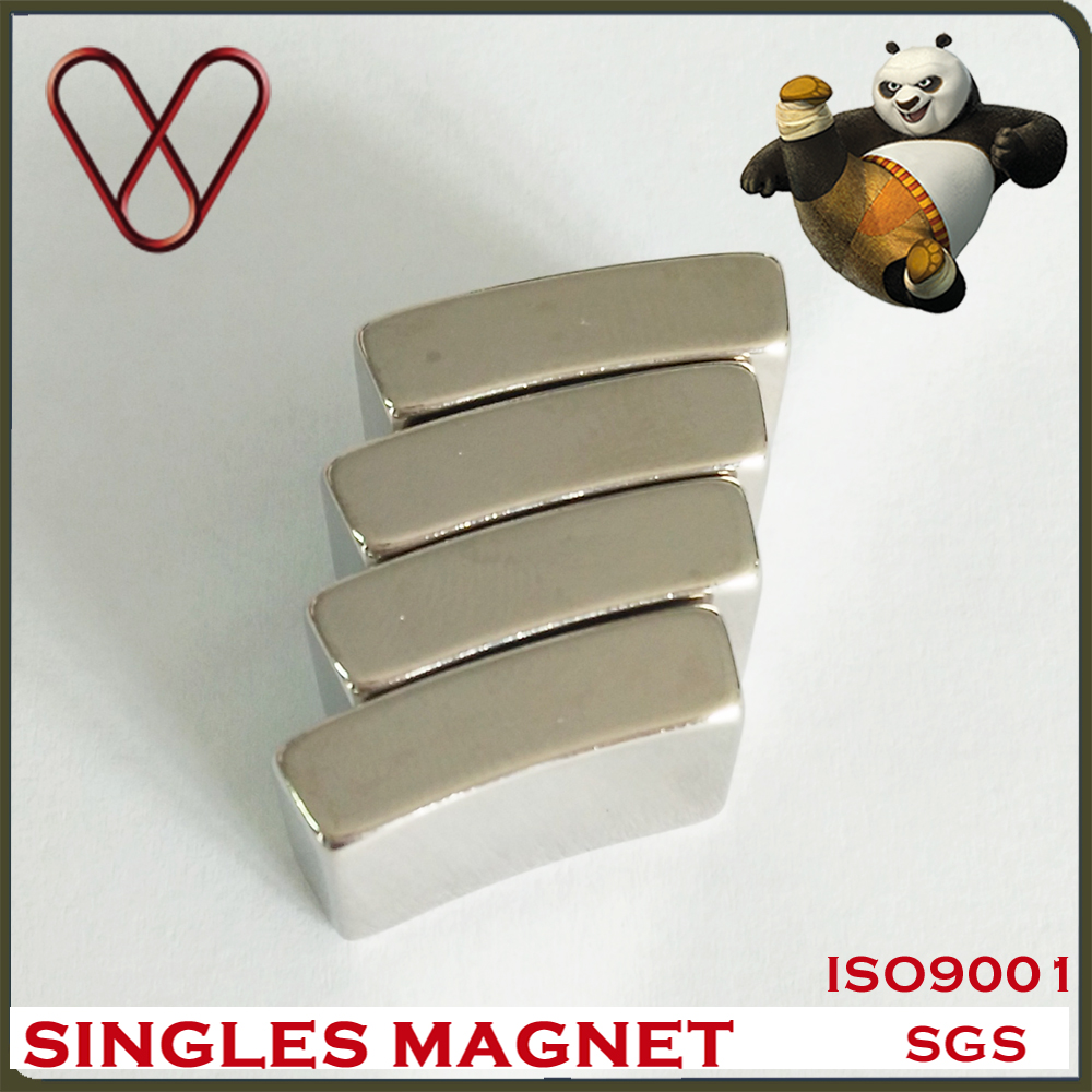 China N42H strong Arc segment sector sintered NdFeB Motor Magnet for sale