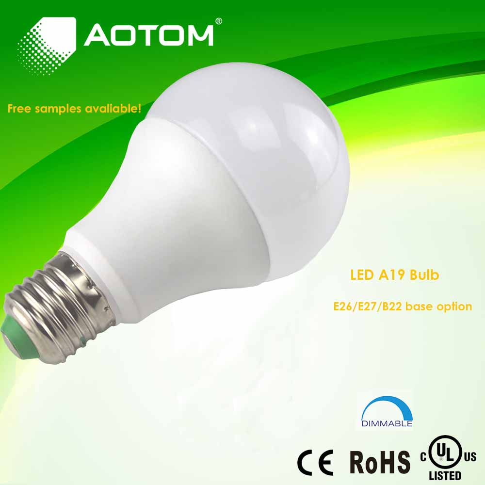 Shenzhen factory led bulb 60w replacement dimmable 9w 810lm