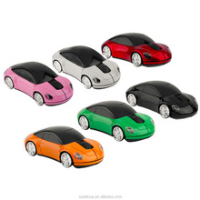 Hot 3D 2.4GHz Wireless Car Shape Mini Mouse Mice 1600DPI Cordless Optical USB Gaming Mouse For PC Laptop Computer LED Light
