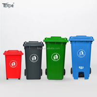 Plastic wheelie container 120L/240L/360L/660L/1100L plastic mobile garbage bin, garbage can, 240 liter waste bin in China