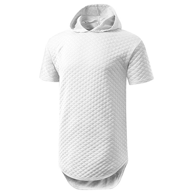 white plian mens longline printed tshirts