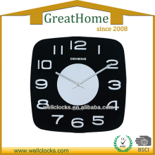 Good quality mirror design emboss glass wall clock