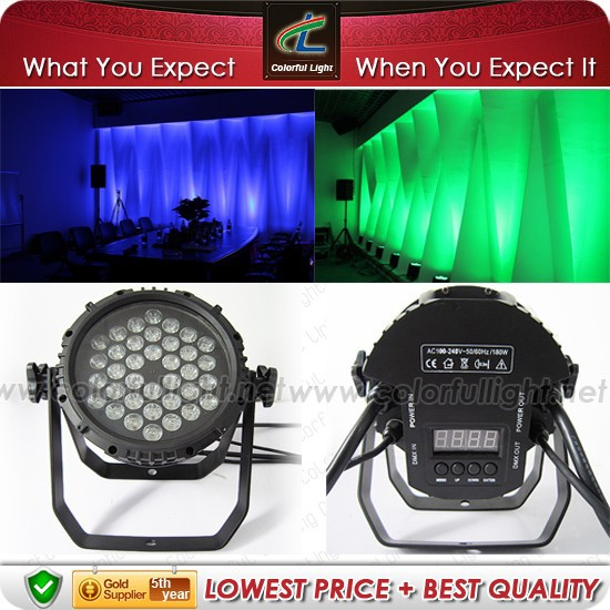 Most Popular! Professional Stage Lighting Cast Aluminum Shell RGBW 36x3w LED Par Light on promotion