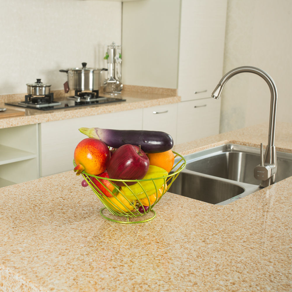 Multicolor Engineered Artificial Quartz Stone Top