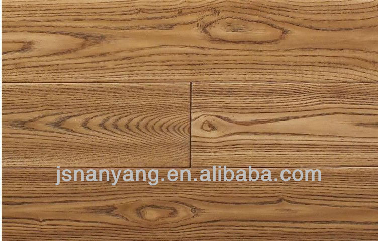 natural lacquered Ash multi-layer parquet solid wood flooring