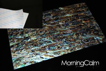 Blue Paua Self-Adhesive Veneer Sheet (Mother of Pearl MOP Shell Overlay Inlay Luthier Nacre)