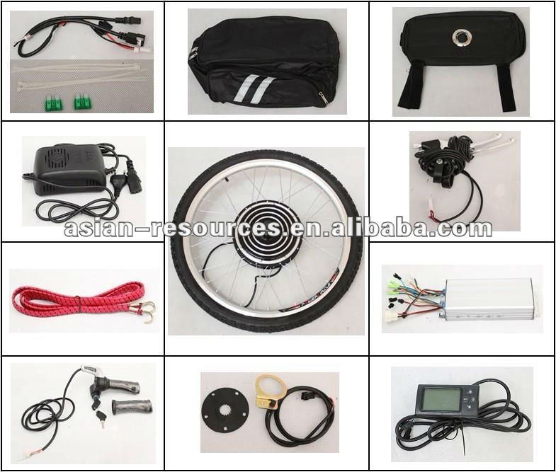 Wholesale 24V 500W Electric Bicycle Ebike Conversion Kits 2013 New Style with LCD Most Powerful Kits Front Wheel Kits
