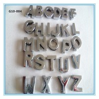 Cheap10mm plain alphabet letter for dog collars in stock