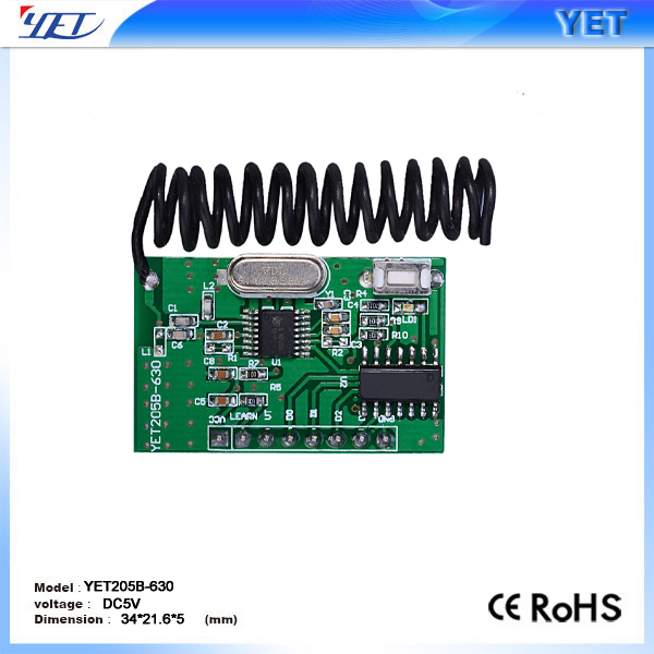 433mhz RF wireless transmitter and receiver module YET205B-630