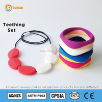 Silicone Baby Beads Bracelet/Baby Soft Rubber Teething Jewelry Brand Jelly