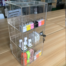 counter display for USB charger store retail acrylic cell phone charger display portable mobile phone accessories display