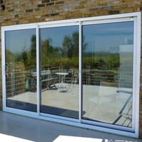 Professional dust-proof french heavy duty aluminum sliding doors with laminated glass