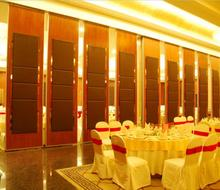 Aluminum frame restaurant wood carving temporary acoustic partition wall