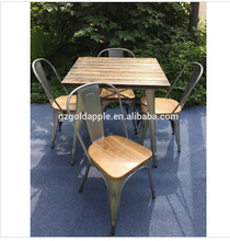 China Factory Direct outdoor metal table and bar chair used