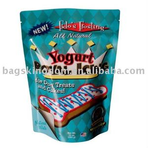 custom printed zipper stand up pouches for dry food packaging, nuts, baking mix