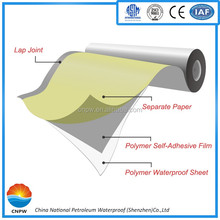 JH-P200 Non-asphalt Polymer PVC Waterproofing Plastic roofing Membrane materials for basement roof