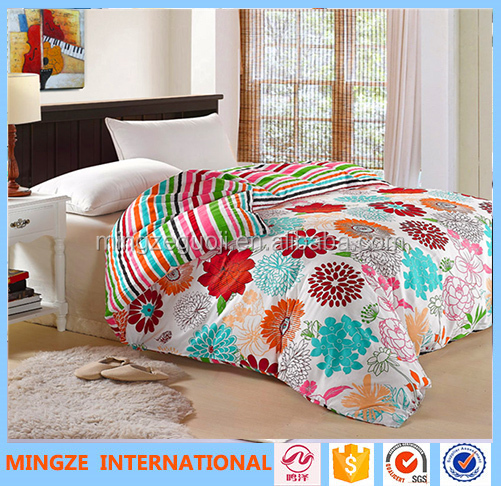 Manufacturer 100% cotton Reactive printed 200T 300T stock sheet set cheap price bedding sheet set duvet cover set