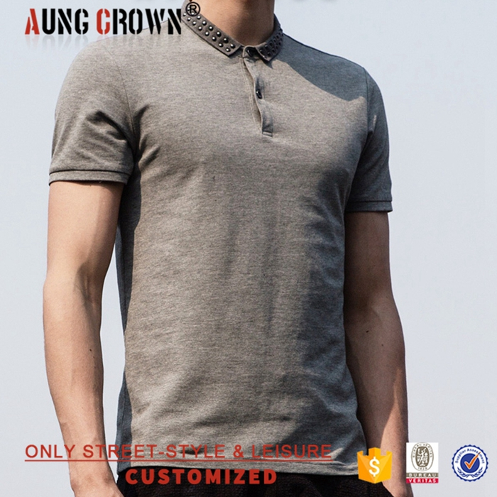Young People Short Sleeve Custom Logo Plain Wholesale Polo T-Shirt Good Quality