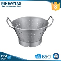 Heavybao Quick Lead Kitchen Accessory Colapsible Industrial Use Stainless Steel Colander With Long Handle