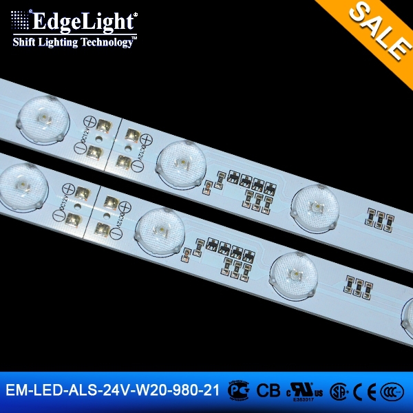 Edgelight 24v high power aluminum strip led christmas light