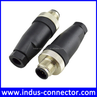 Waterproof / watertight connector male m12 8 pin electrical circular connector