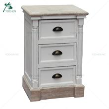 home recycled wood furniture antique french white bedside stand drawer