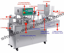 Paper Cup filling Sealing Machine for Coffee, Yogurt and Ice Cream
