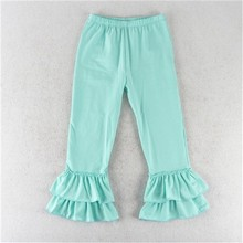 New design traditional baby triple ruffle pants