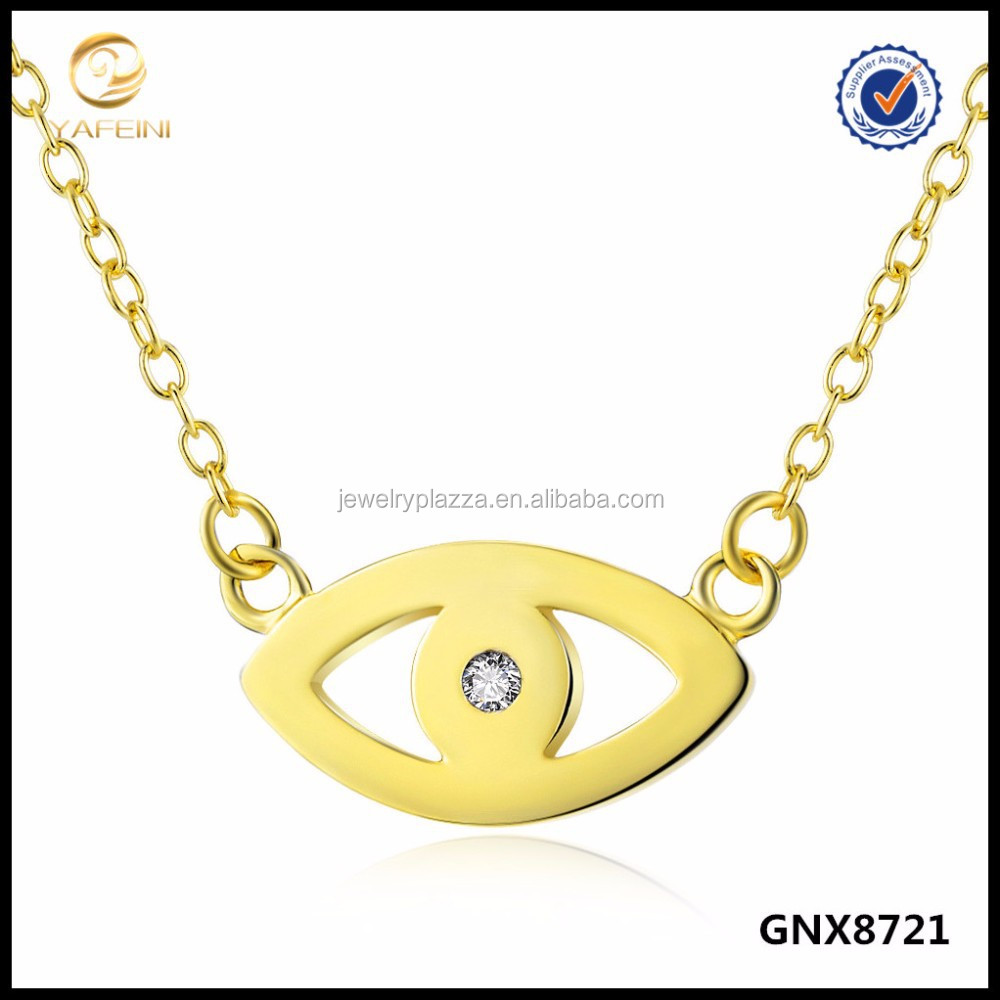 2015 Fashion Necklace Sterling Silver Jewelry Small Evil Eye Necklace
