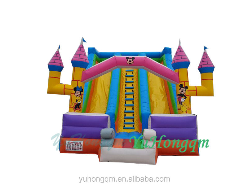 Fashionable design inflatable cartoon characters slide, kids funny inflatable slide for theme park