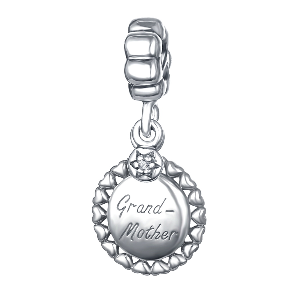 LZESHINE 100% Authentic Sterling Silver Charm Dangle Grand Mother Beads Fit Bracelet Marking Jewelry Wholesale PDMB0412
