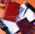 leather agenda/leather cover notebook/notepad/good small notepaper