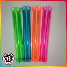 Neon colored plastic test tube shot