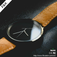2016 Best men leather sapphire crystal swiss quartz movement watches price