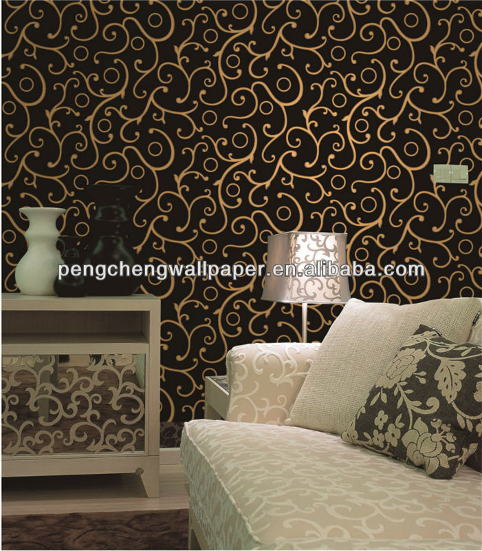 eco-friendly decorative modern metallic geometrical wallpaper